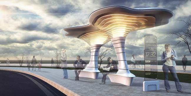 Thiết kế hiện đại cho trạm xe buýt