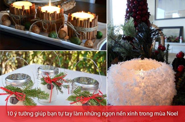 Tự tay làm những ngọn nến xinh xắn cho mùa Noel