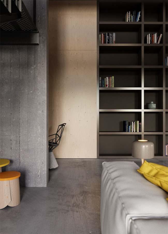 Nhà đẹp 2 tầng với thiết kế công nghiệp cá tính