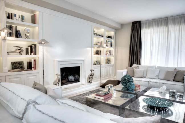 Căn hộ màu trắng với thiết kế sang trọng