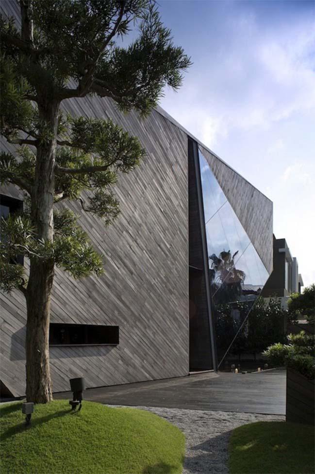 thiet ke nha dep 01 Gợi ý thiết kế nhà đẹp với kiến trúc kim cương độc đáo
