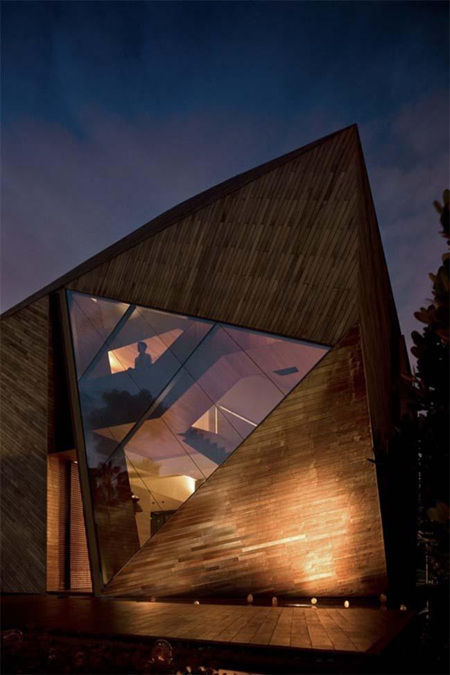 thiet ke nha dep 02 Gợi ý thiết kế nhà đẹp với kiến trúc kim cương độc đáo