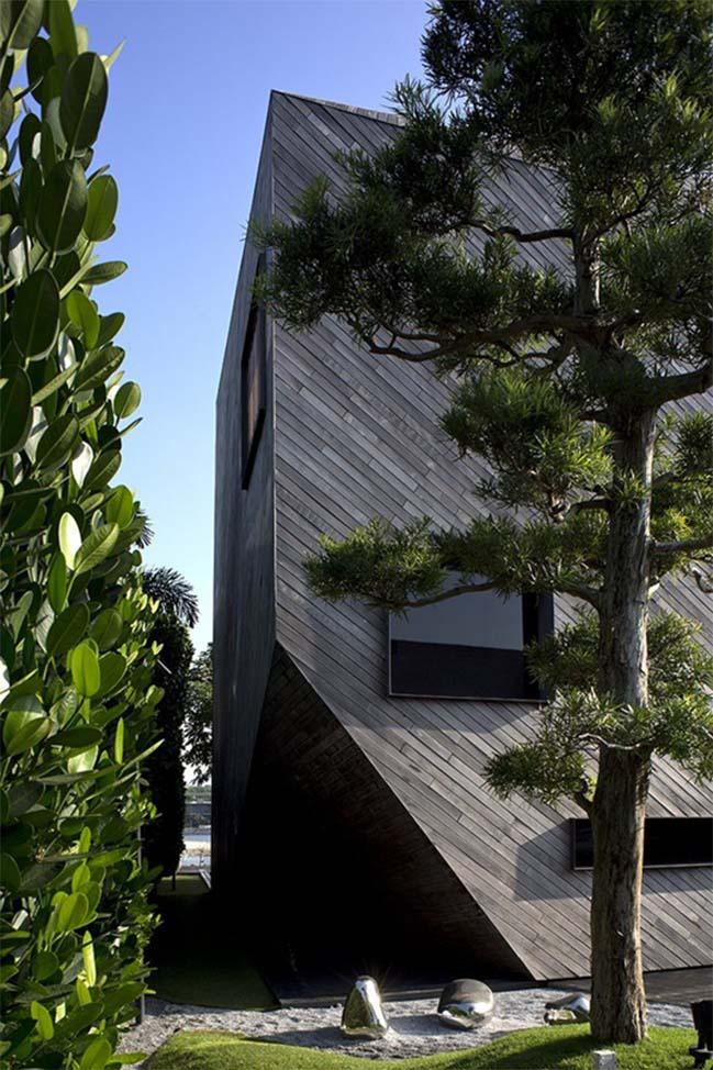 thiet ke nha dep 03 Gợi ý thiết kế nhà đẹp với kiến trúc kim cương độc đáo