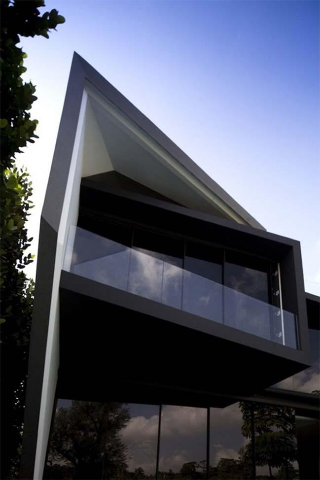 thiet ke nha dep 05 Gợi ý thiết kế nhà đẹp với kiến trúc kim cương độc đáo