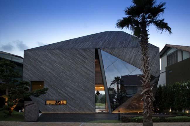 thiet ke nha dep Gợi ý thiết kế nhà đẹp với kiến trúc kim cương độc đáo