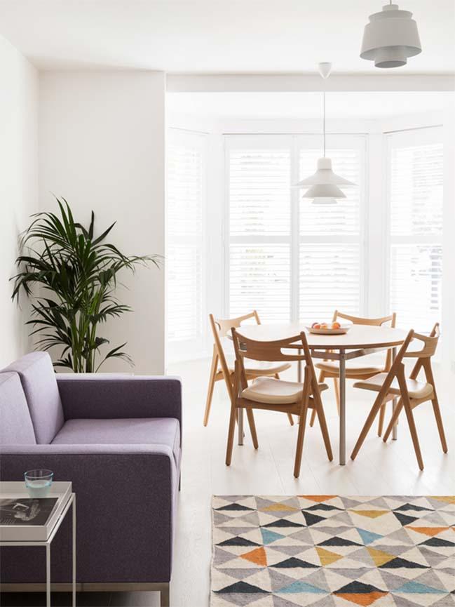 can ho chung cu 60m2 02 Biến hóa căn hộ 60m2 với nội thất trắng sáng hiện đại