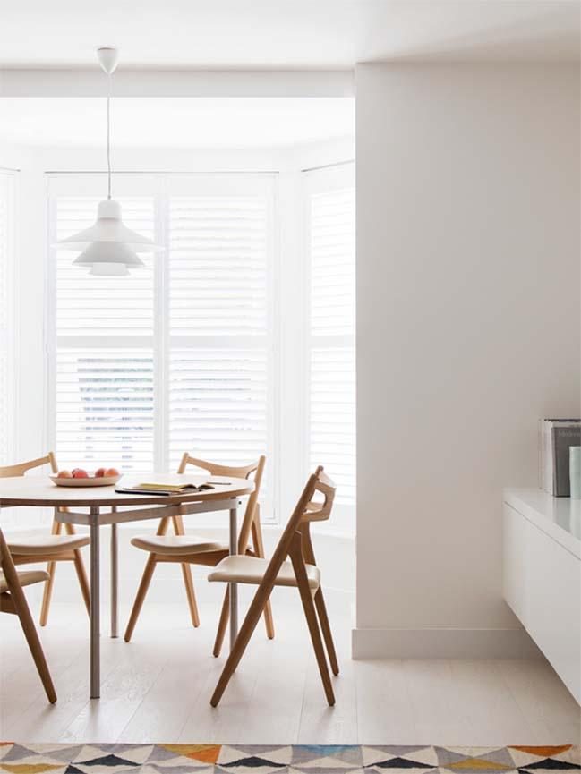 can ho chung cu 60m2 04 Biến hóa căn hộ 60m2 với nội thất trắng sáng hiện đại