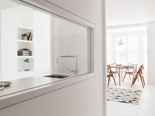 can ho chung cu 60m2 05 Biến hóa căn hộ 60m2 với nội thất trắng sáng hiện đại