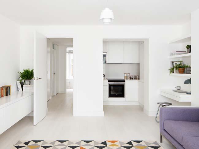 Cải tạo căn hộ 60m2 với nội thất trắng sáng