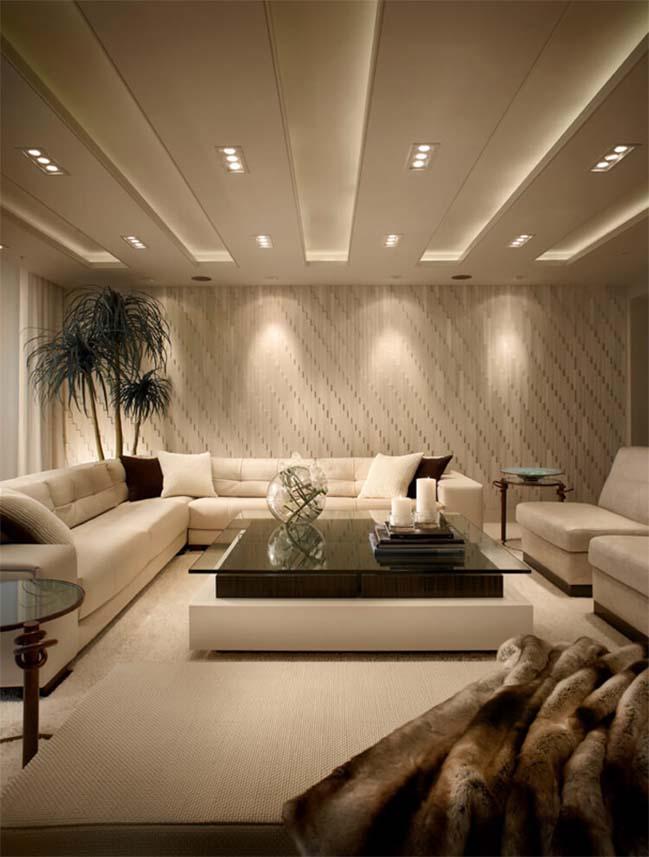 Căn hộ penthouse với thiết kế nội thất sang trọng ấm áp