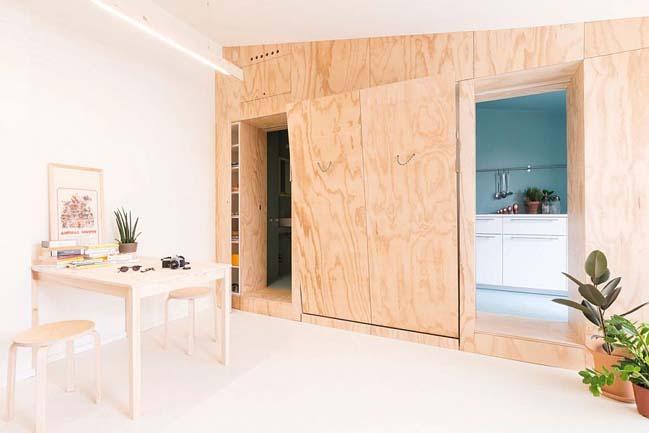 nha nho dep 28m2 01 Tối ưu không gian cho nhà nhỏ đẹp 28m2 vẫn tiện lợi và đầy đủ nội thất