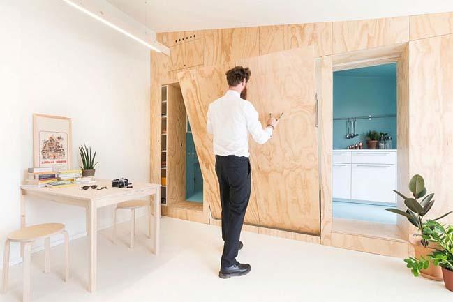 nha nho dep 28m2 02 Tối ưu không gian cho nhà nhỏ đẹp 28m2 vẫn tiện lợi và đầy đủ nội thất