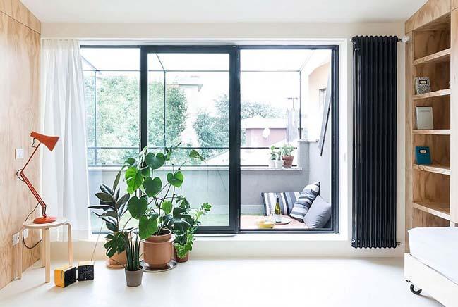 nha nho dep 28m2 04 Tối ưu không gian cho nhà nhỏ đẹp 28m2 vẫn tiện lợi và đầy đủ nội thất