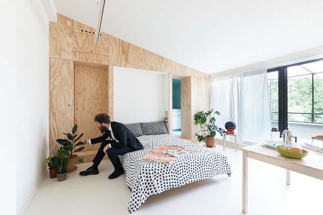 nha nho dep 28m2 05 Tối ưu không gian cho nhà nhỏ đẹp 28m2 vẫn tiện lợi và đầy đủ nội thất