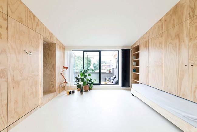 nha nho dep 28m2 06 Tối ưu không gian cho nhà nhỏ đẹp 28m2 vẫn tiện lợi và đầy đủ nội thất