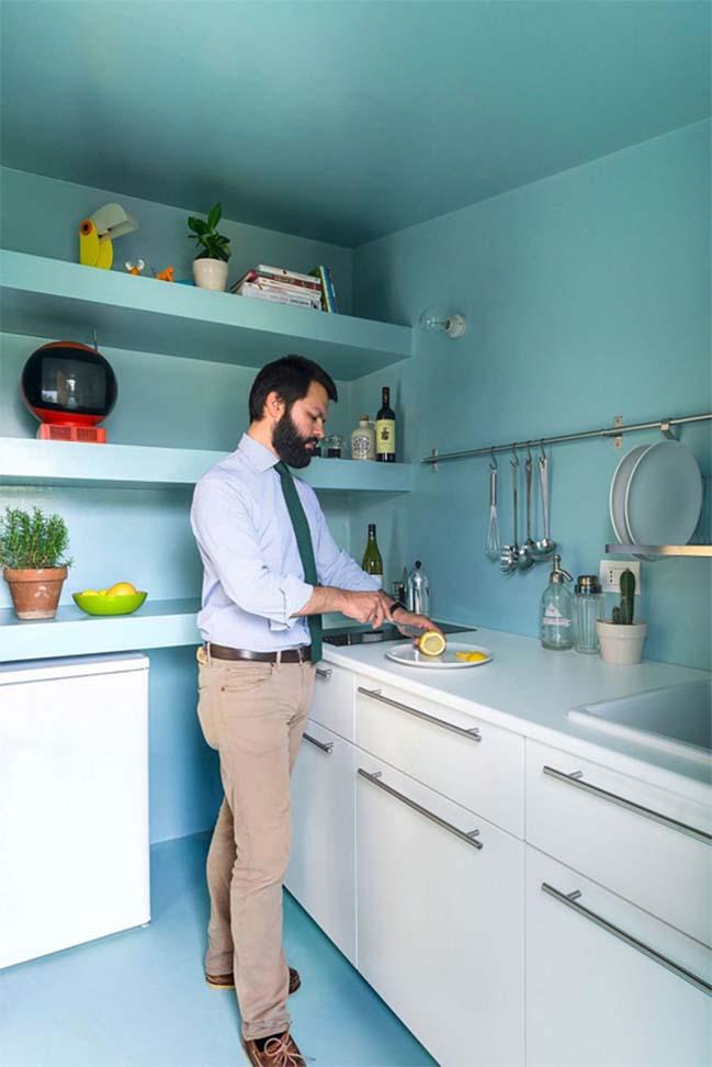 nha nho dep 28m2 07 Tối ưu không gian cho nhà nhỏ đẹp 28m2 vẫn tiện lợi và đầy đủ nội thất
