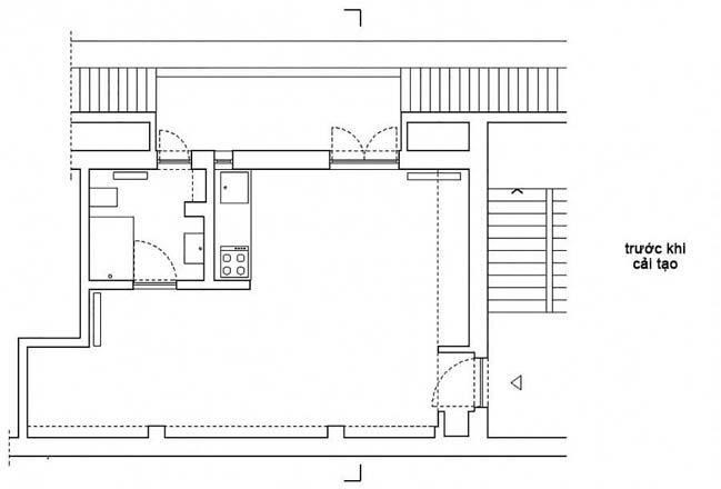 nha nho dep 28m2 09 Tối ưu không gian cho nhà nhỏ đẹp 28m2 vẫn tiện lợi và đầy đủ nội thất