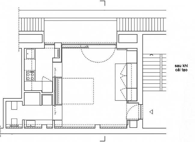 nha nho dep 28m2 10 Tối ưu không gian cho nhà nhỏ đẹp 28m2 vẫn tiện lợi và đầy đủ nội thất