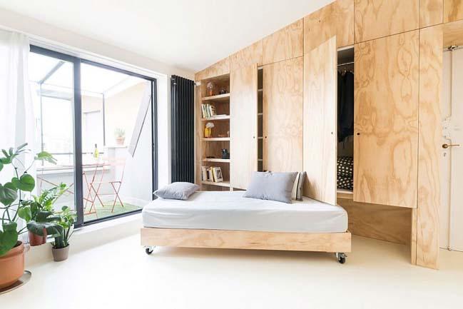 nha nho dep 28m2 Tối ưu không gian cho nhà nhỏ đẹp 28m2 vẫn tiện lợi và đầy đủ nội thất