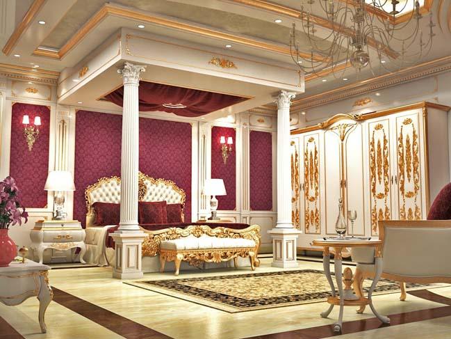 Nội thất phòng ngủ đẹp với thiết kế cổ điển sang trọng