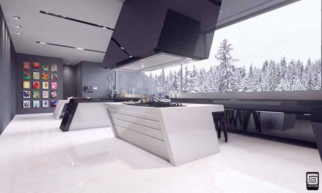 Mẫu nhà bếp đẹp với thiết kế hiện đại phá cách