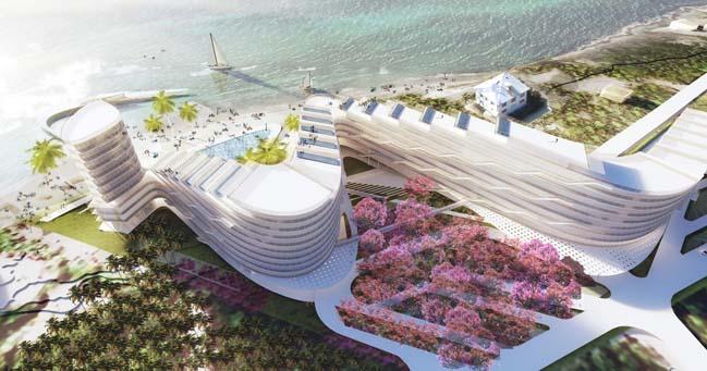 Khu resort sang trọng với kiến trúc zíc zắc độc đáo