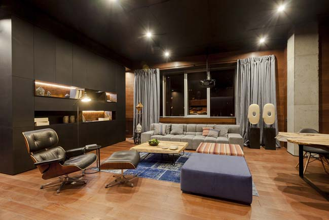 Nội thất căn hộ với những màu sắc tương phản