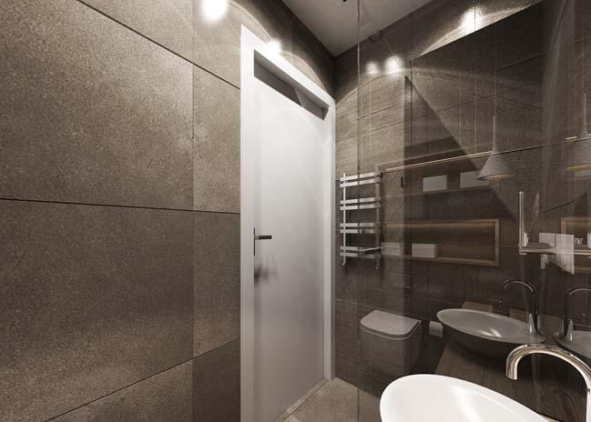 Thiết kế sang trọng cho phòng tắm kính nhỏ đẹp