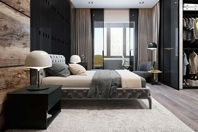 Mẫu nhà đẹp sang trọng với sắc thái màu xám