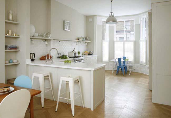 10 mẫu nhà bếp đẹp với tông màu trắng sáng