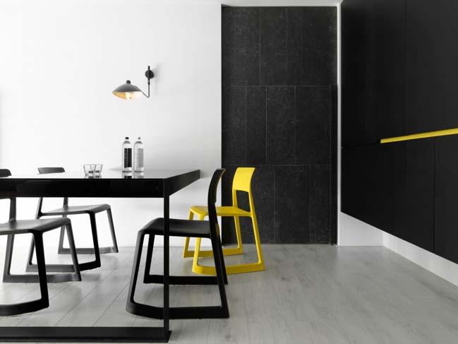 thiet ke noi that can ho chung cu 09 Thiết kế căn hộ chung cư với màu sắc tương phản theo phogn cách hiện đại