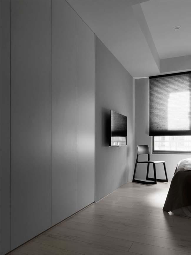 thiet ke noi that can ho chung cu 11 Thiết kế căn hộ chung cư với màu sắc tương phản theo phogn cách hiện đại