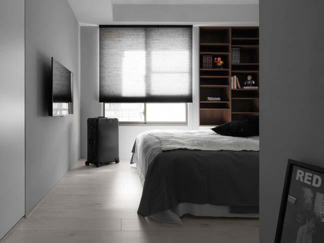 thiet ke noi that can ho chung cu 12 Thiết kế căn hộ chung cư với màu sắc tương phản theo phogn cách hiện đại