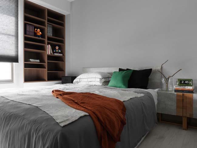 thiet ke noi that can ho chung cu 13 Thiết kế căn hộ chung cư với màu sắc tương phản theo phogn cách hiện đại