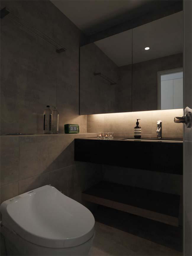 thiet ke noi that can ho chung cu 18 Thiết kế căn hộ chung cư với màu sắc tương phản theo phogn cách hiện đại
