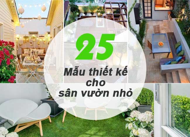 25+ mẫu thiết kế cho sân vườn nhỏ đẹp