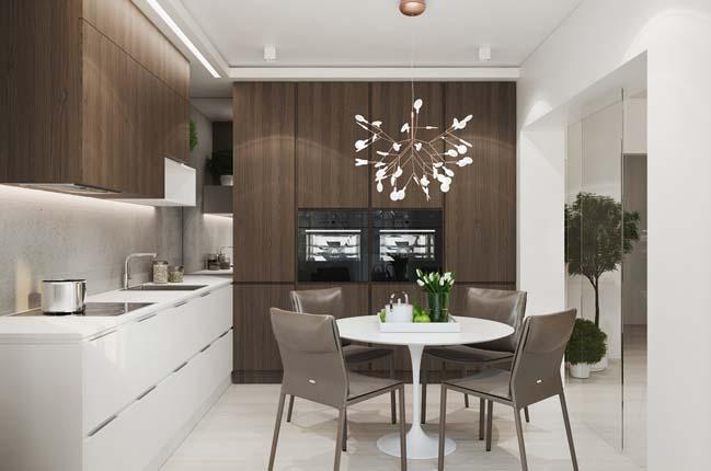 Thi t k n i th t cho c n h cao c p 70m2 for Apartment design 70m2
