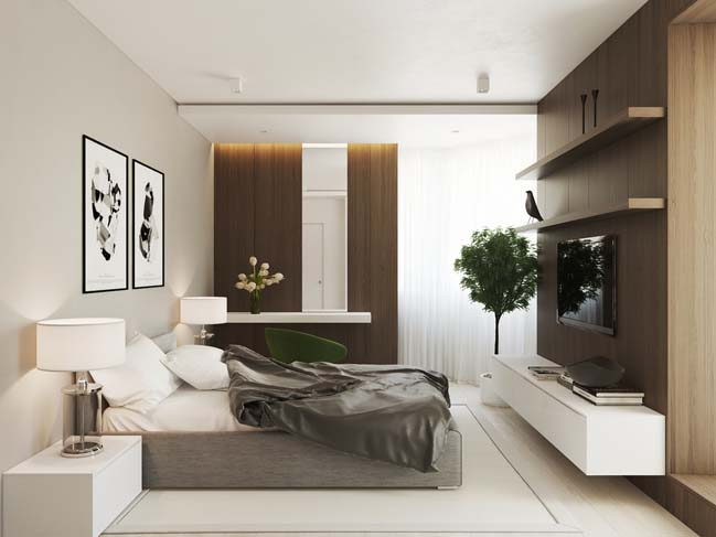 Thiết kế nội thất cho căn hộ cao cấp 70m2