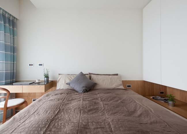 Căn hộ chung cư với nội thất gỗ ấm cúng và yên bình