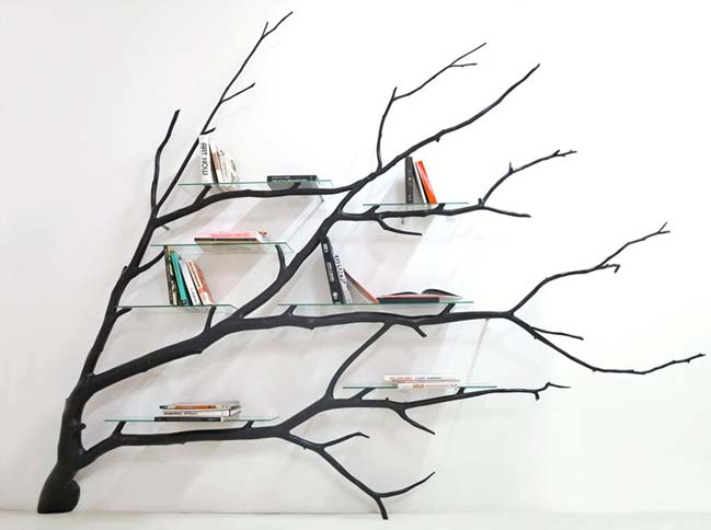 Cách biến cành cây thành một chiếc kệ sách độc đáo