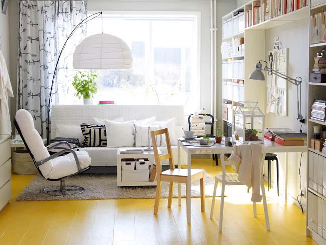 Tô điểm cho phòng khách đẹp với những điểm nhấn màu vàng