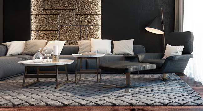 Những mẫu phòng khách đẹp với màu xám sang trọng