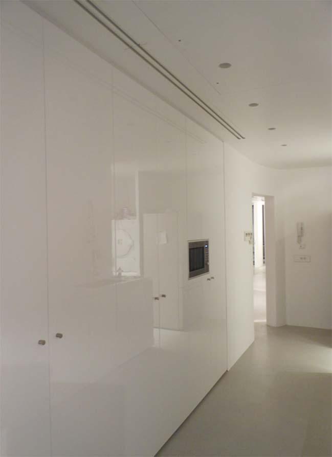 Nội thất căn hộ chung cư đẹp với những bức tường cong