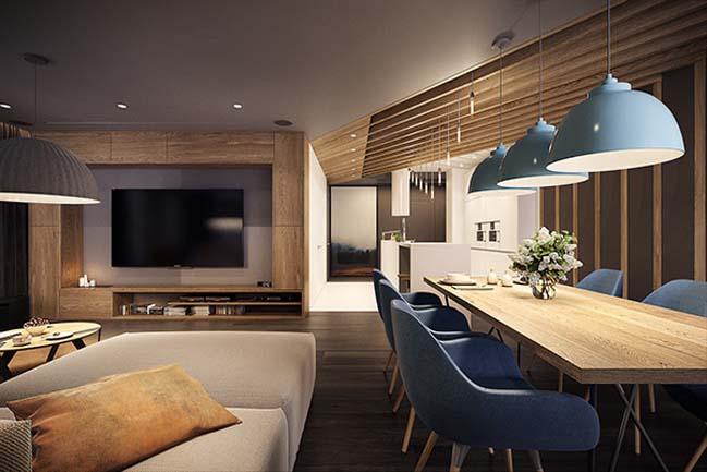 mau nha dep 12 Ngôi nhà đẹp không gian sống ấm áp và ấn tượng với một thiết kế nội thất hoàn hảo