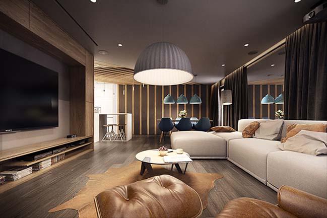 mau nha dep 19 Ngôi nhà đẹp không gian sống ấm áp và ấn tượng với một thiết kế nội thất hoàn hảo