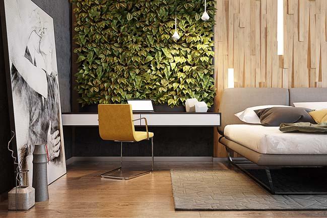 Mẫu thiết kế phòng ngủ đẹp lấy cảm hứng từ thiên nhiên