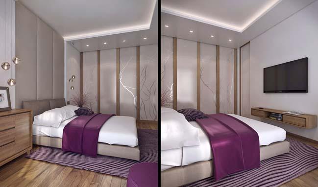 Thiết kế nội thất ấm cúng cho căn hộ 1 phòng ngủ