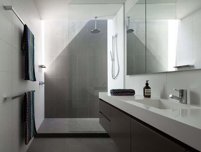 10 mẫu phòng tắm đẹp với 2 màu trắng và xám