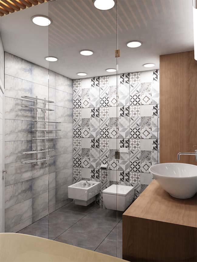 2 mẫu thiết kế đẹp cho không gian phòng tắm nhỏ