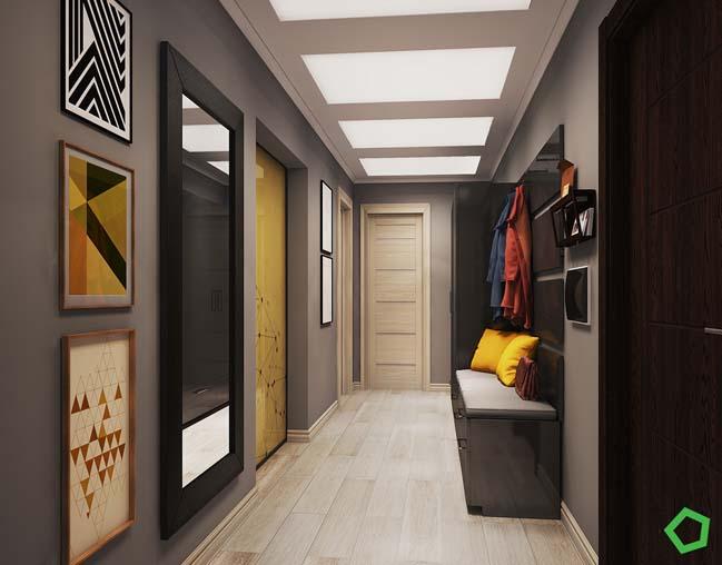Thiết kế căn hộ chung cư ấm áp với điểm nhấn màu vàng